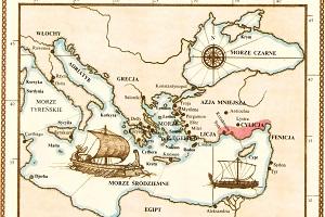 mapa starożytna - piraci