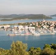 Panorama portu w Chorwacji