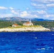 Pejzaż wybrzeża Chorwacji