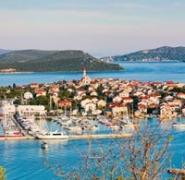 Widok portu w Chorwacji