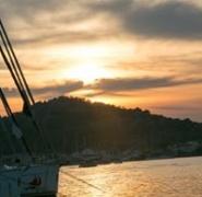Zachód słońca w Chorwacji