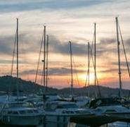 Zachód słońca w chorwackim porcie