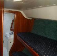 Łóżka na jachcie Elan 431