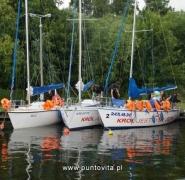 Widok jachtów Mazury 2011