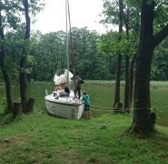 cumowanie żaglówki żeglarski obóz dla dzieci