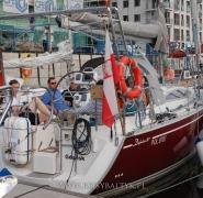 jacht przygotowany do rejsu na bornholm