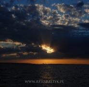 zachód słońca bałtyk