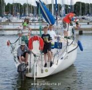 Odpłynięcie jachtu