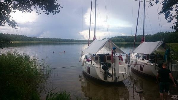 rejs po jeziorze Tyrkło