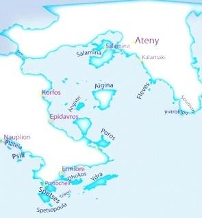 Grecja mapka