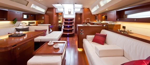 jacht Oceanis 45 wnętrze