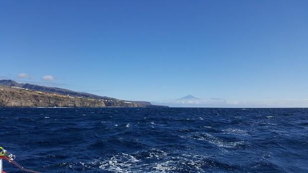 kilka mil od wyspy la gomera