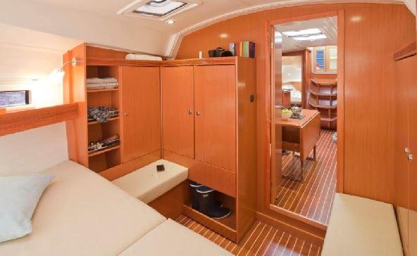 kabina dziobowa jachtu