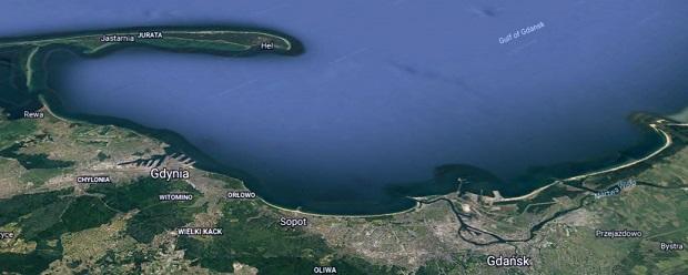 mapa zatoki gdańskiej