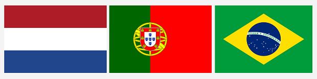 Przykłady flag narodowych, które są jednocześnie banderami: Holandia, Portugalia, Brazylia.