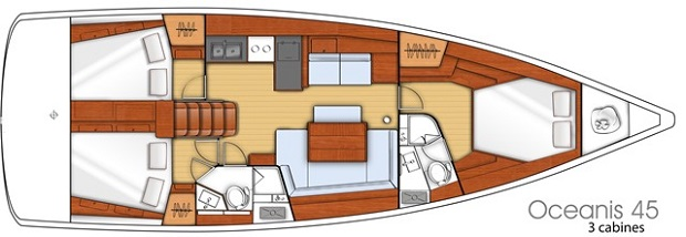 rzut na jacht oceanis 45