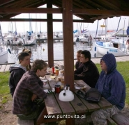 Posiłek żeglarski na Mazurach