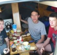 Śniadanie żeglarskie na Mazurach 2009