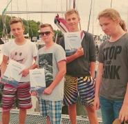 Dyplom i odznaczenie żeglarskie Puntovita