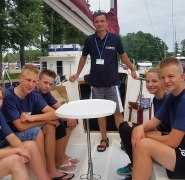 Załoga młodych żeglarzy - Mazury 2016