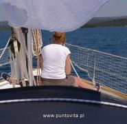 Dziób jachtu - Chorwacja 2012