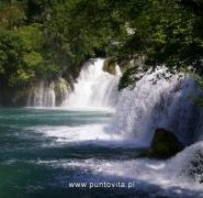 Widok wodospadku w Chorwacji