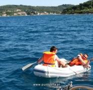 Pływanie pontonem w Chorwacji