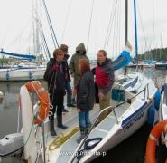 Ekipa jachtu w porcie