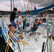 Osprzęt na pokładzie jachtu