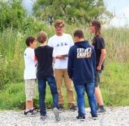 Rozmowa dzieci z instruktorem