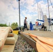Wyposażenie jachtu na pomoście