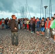 Zbiórka młodych żeglarzy z instruktorami