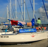 Jachty na przystani Mazury 2013