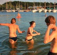 Kąpiel młodzieży Mazury 2013