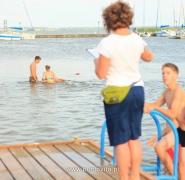 Kąpiel w jeziorze Mazury 2013