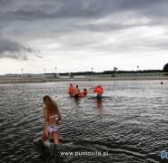 Kąpiel w mazurskim jeziorze