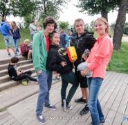 Obóz nad mazurskim jeziorem