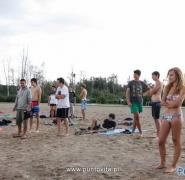Wypoczynek młodzieży na plaży