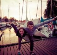 Radośni żeglarze na Mazurach