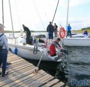 Dwa jachty Mazury