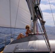 Dziób jachtu - Chorwacja 2011