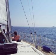 Opalanie na jachcie - Morze Adriatyckie