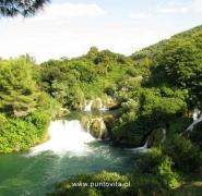 Piękny wodospad w Chorwacji